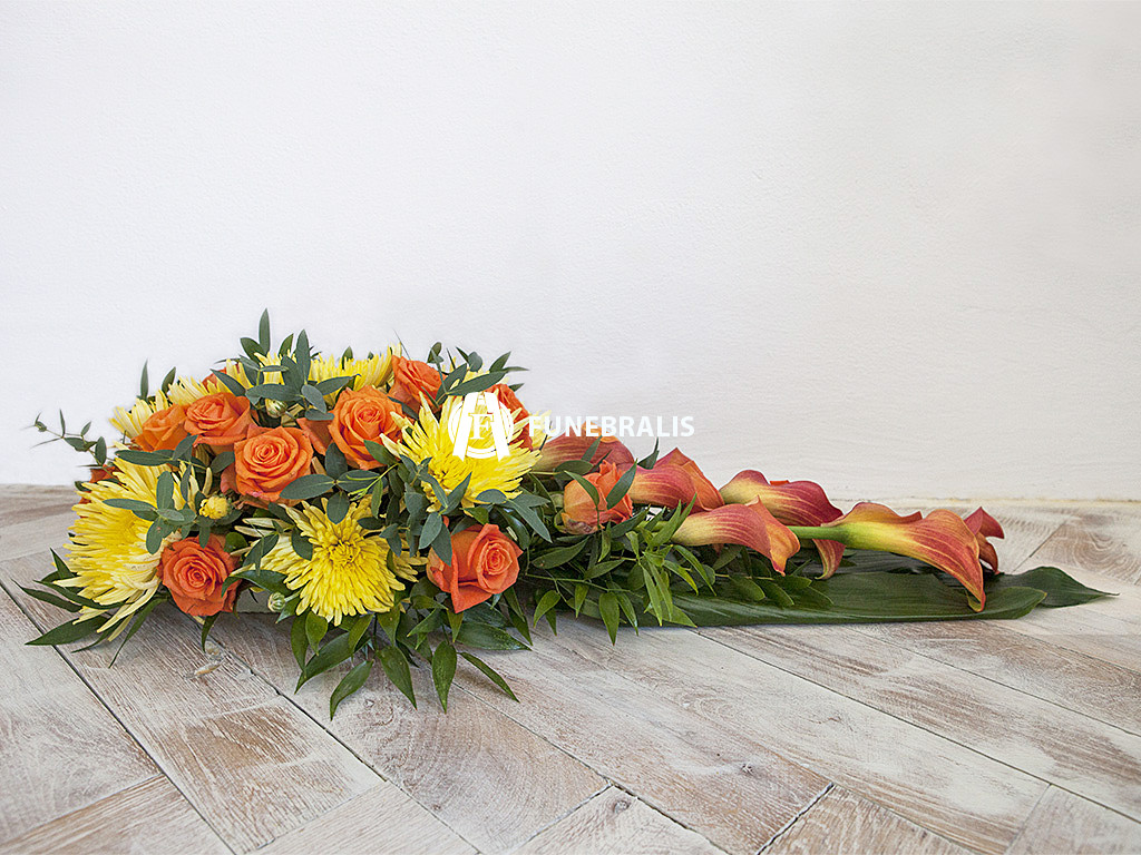 Oranžovo žluté aranžmá