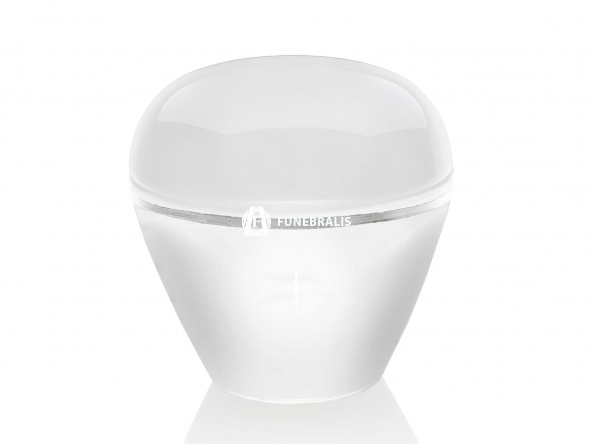 Urna křišťál bílá