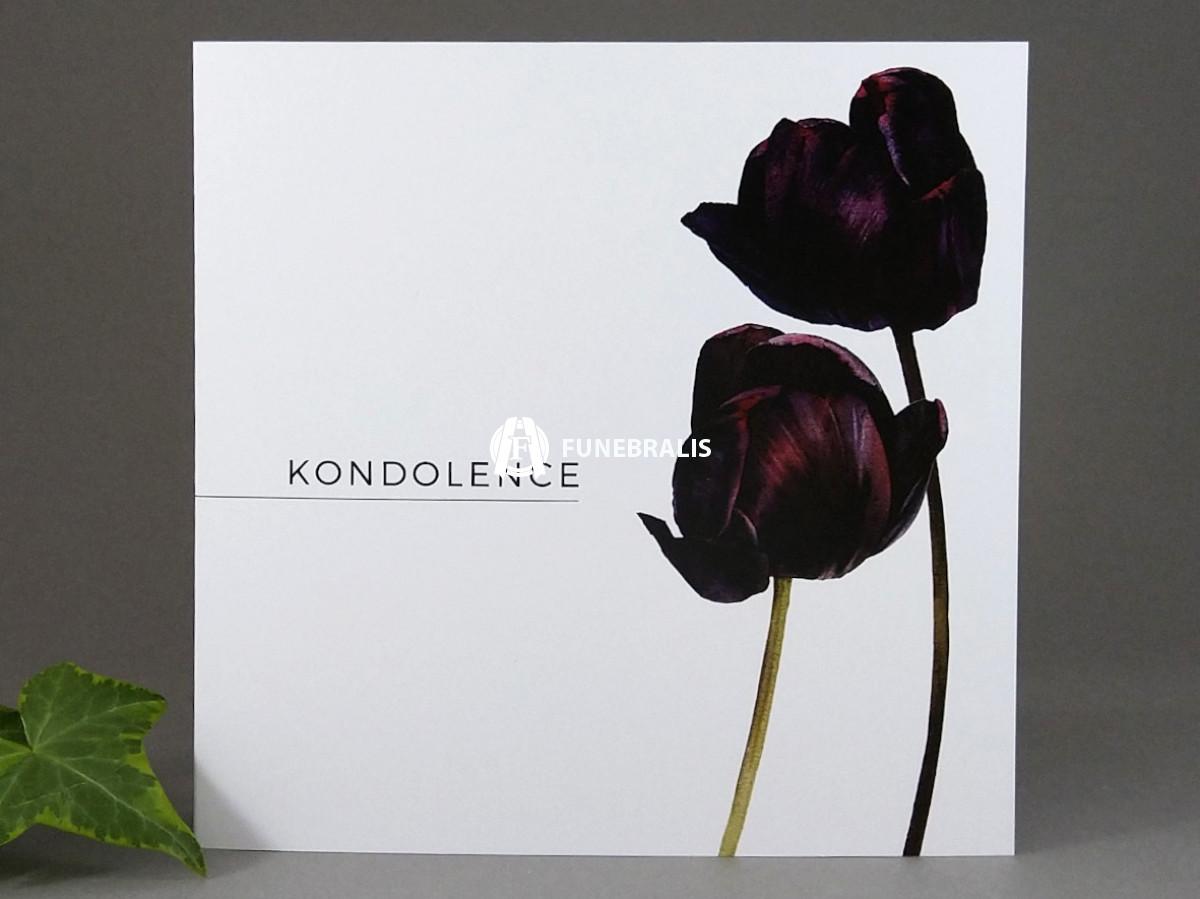 Kondolence Černé tulipány