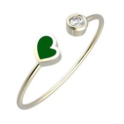 Náramek Heart - zelený