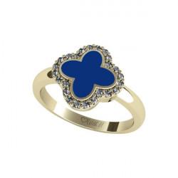 Prsten velký Flower Exclusive - modrý