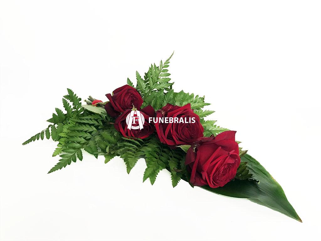Kytice ze 4 červených růží