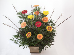 Kytice Gerbera oranžová