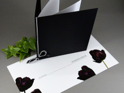Kondolence Černé tulipány s obálkou